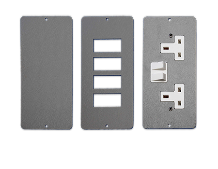 floor box outlet plates