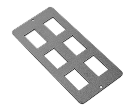 6 way parallel RJ45 data plate