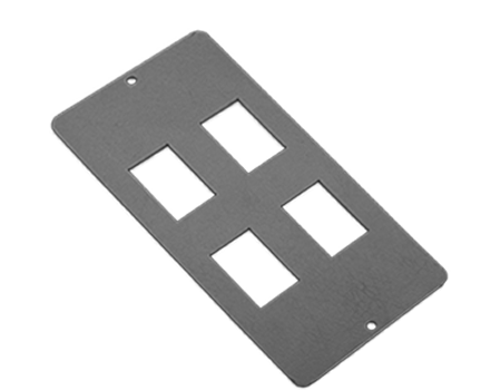 4 way parallel RJ45 data plate