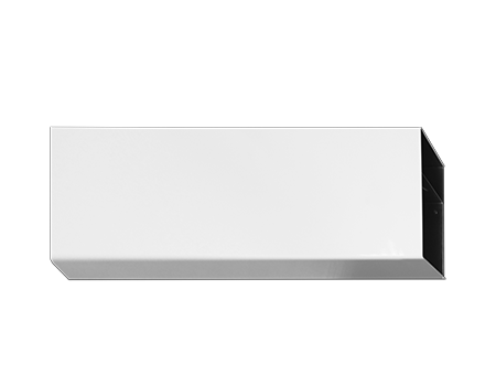 chamfered top skirting trunking